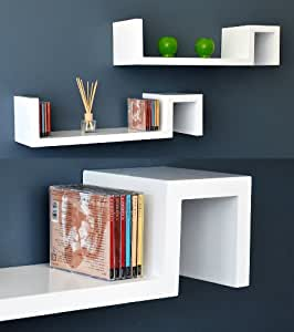 Ts ideen 5702 set 2 mensole angolari per cd e libri utilizzabili anche come tavolini o comodini for Mensole angolari