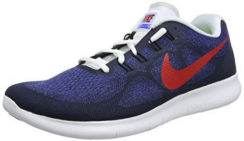 Nike Herren Free RN 2017 Laufschuhe, Blau (Obsidian/University Red/Racer Blue/Photo Blue/Black/White 406), 40 EU