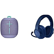 UE Wonderboom Altoparlante Wireless Bluetooth, Lilla + Logitech G433 Cuffia con Microfono per Giochi Cablata, Blu
