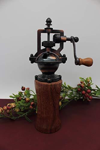 Gewürzmühle aus Holz Pfeffermühle Vintage Salzmühle Einstellbares Mahlwerk Handgedrechselt Unikat aus Mahagoni/Meranti