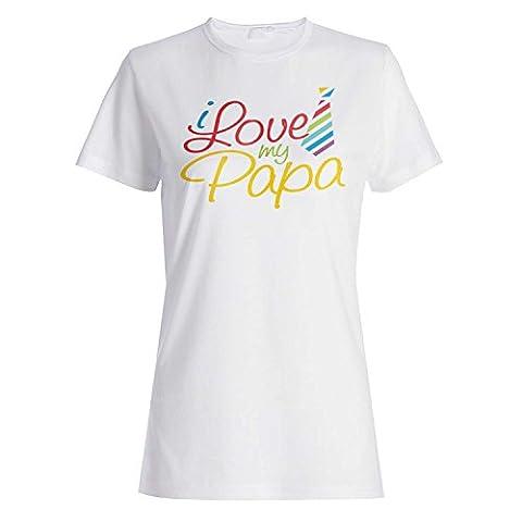 Nouveau amour d'I ma nouveauté de papa Dames T-shirt