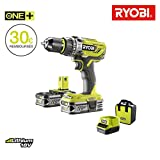 Perceuse-visseuse à percussion RYOBI 18V OnePlus - 2 batteries LithiumPlus 2.5Ah - chargeur rapide 2.0Ah R18PD31-225S