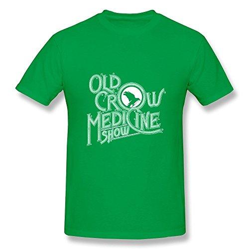 Huba Hombre Tshirts Old Cuervo Medicinal Show Negro