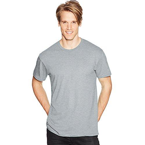 Hanes Mens Nano-T T-Shirt Light Steel