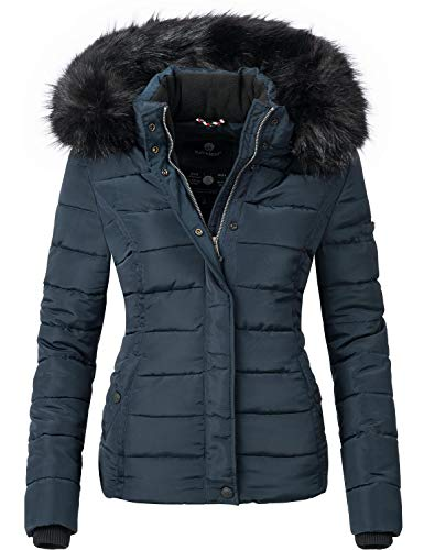 Navahoo Damen Winter Jacke Steppjacke Miamor Blau Gr. S