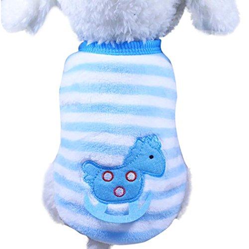 Linlink Niedlich Hund Kätzchen Hemd Kleidung Weich Pet Regenbogen Mode Plüsch Westen Warm Regenbogen