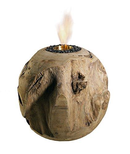 *Trendy-Home24 20005 Feuerkugel aus Teakholz Durchmesser 30 cm Tischfeuer/kamin Dekokugel*