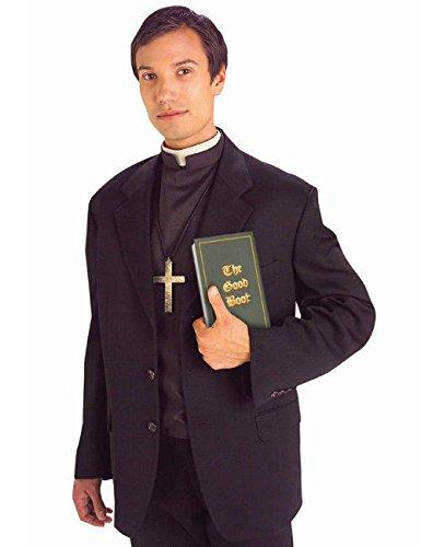 Preisvergleich Produktbild Priester Hemd mit Kragen schwarz weiss M / L