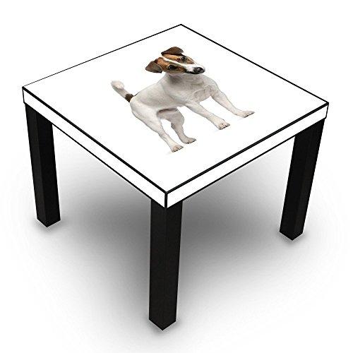 banjado-beistelltisch-design-tisch-55x45x55cm-wohnzimmertisch-schwarz-mit-motiv-jack-russell