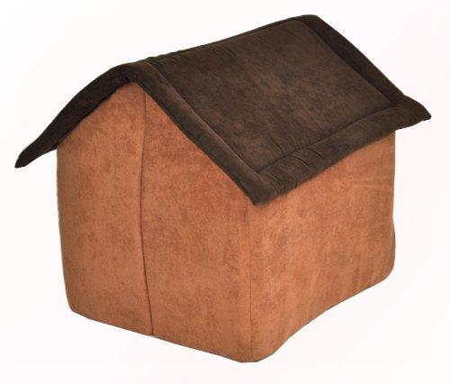 nanook Hunde-Höhle Katzen-Höhle CHALET JOKER, für Hunde und Katzen, Größe M (55 x 52 cm), Wildleder-Optik, dunkelbraun, braun -