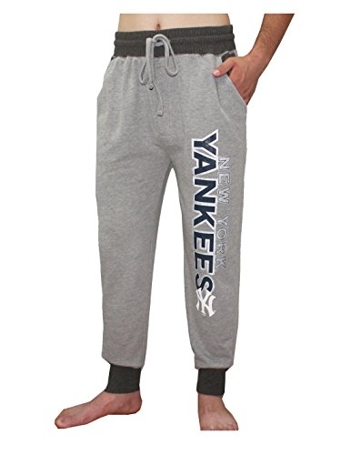 MLB New York Yankees Herren Herbst / Winter Heavyweight Lounge Pants M Grau (Baseball Robe)