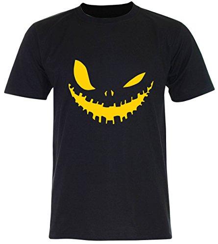 PALLAS Unisex's Halloween Evil Smile T Shirt Black