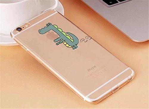 Cover iPhone 6/6S Plus Trasparente Creativo morbido Silicone Luce e sottile TPU arte pittura Serie phone case DECHYI Design# 11