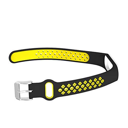 Altsommer Sport Weiche Silikon Zwei Farbe Loch Armband Handschlaufe für Xiaomi Mi Band 4