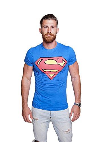Course - Herren T-Shirt in Blau - Superman - Gr. L