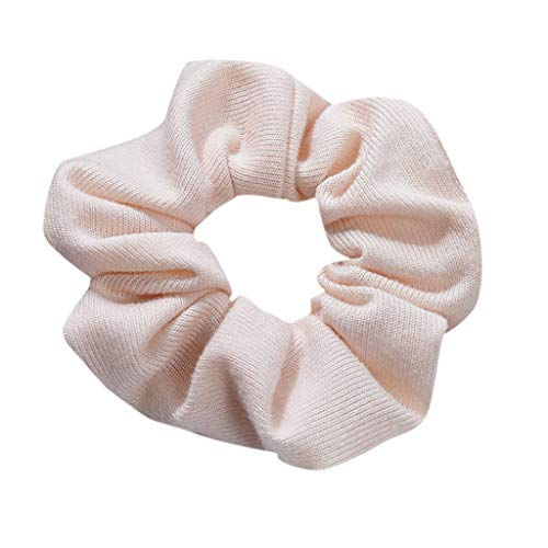 Dorical Haarband Zubehör für Frauen Mädchen Damen Elegante Elastische Einfarbig Haarbänder Vintage Schachtelhalm Halter Seil Haarschmuck Ausverkauf(Beige)