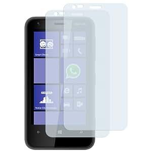 2x mumbi Displayschutzfolie Nokia Lumia 620 Schutzfolie CrystalClear unsichtbar