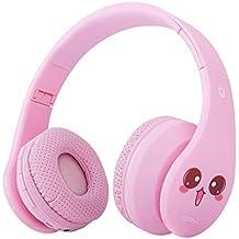 Auriculares Bluetooth para niños, Auriculares inalámbricos para niñas, 85 dB Volumen limitado Plegable,