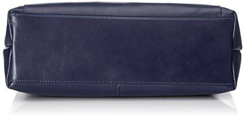 CTM Borsa da Donna a Mano e Spalla, 42x20x12cm, Vera pelle 100% Made in Italy Blu