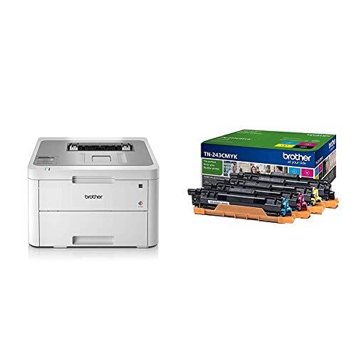 Brother DCP-L3550CDW Imprimante Multifonction 3 en 1 Laser - Couleur - Silencieuse 45db- Mémoire...