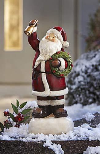 Unbekannt Bewegungsmelder Kunststein Bewegungssensor Garten Dekoration Deko Weihnachtsmann