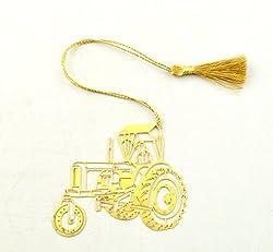 Tractor Metal Bookmark