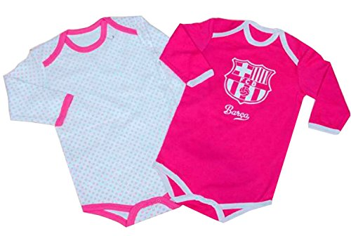 Pack 2 Body manga Larga F.C.Barcelona Rosa 6M