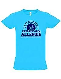 HAUSAUFGABEN ALLERGIE - Vorsicht Gesundheitsgefahr ! Nicht mit Hausaufgaben in Verbindung bringen ! Kinder T-Shirt Kids Gr.128 - 164 cm