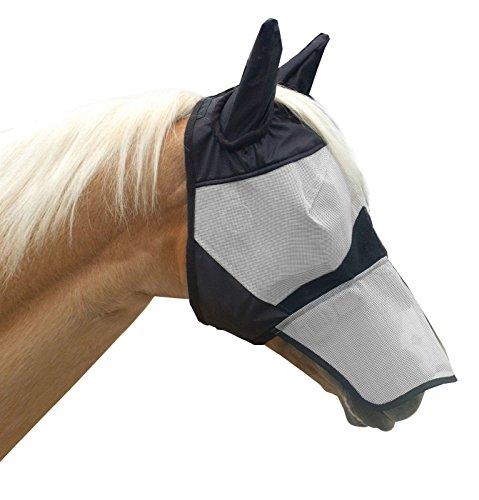 KM Elite Fliegenmaske mit Nase, Volle Größe -