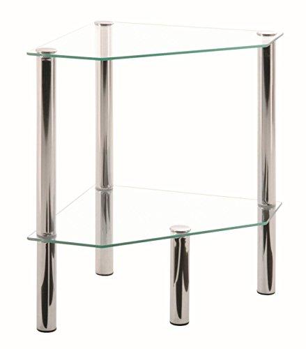 Haku Möbel 90245 - Mesa Baja Acero Tubular Cristal