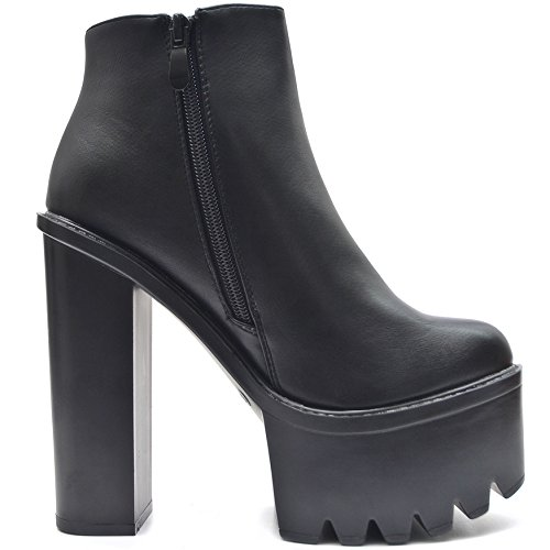 6bfaaf5250269d Bild von Vain Secrets Damen Chelsea Plateau Boots Stiefeletten mit Absatz  Profil Sohle