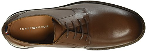 Tommy Hilfiger R2285ounder 1a, Chaussures à Lacets Homme Marron - Braun (brandy 601)