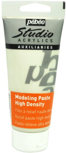 Pebeo Studio Acrylics Auxiliaries Modellierpaste, 100ml, hohe Dichte, Weiß