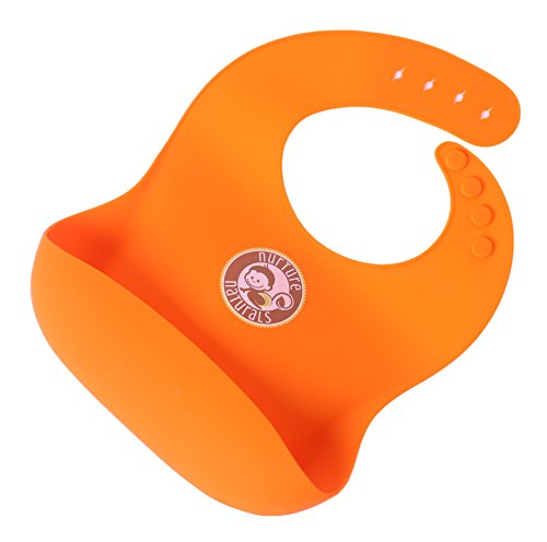 Wasserfestes Silikonlätzchen mit Tasche für herunterfallendes Essen. Flexibles und anpassbares Silikon für bequemes Tragen – leicht zu reinigen | 4 Variationen und 2 Farben zur Auswahl | BPA-frei & FDA zugelassen | Leicht verstellbar