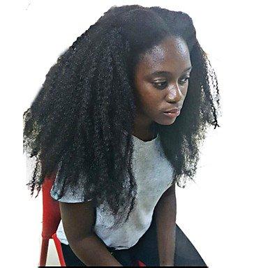 Menschlichen Frauenhaar lace brasilianische Echthaar Perücke leimlosen Lace Front 150% Dichte mit Babyhaar Afro Afro Kinky Curly Kin KY Lockenperücke