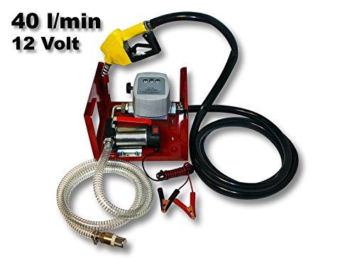 Pompa bio per gasolio/nafta autospirante 12V 150W 40 l/min Pistola automatica Pompa di trasferimento