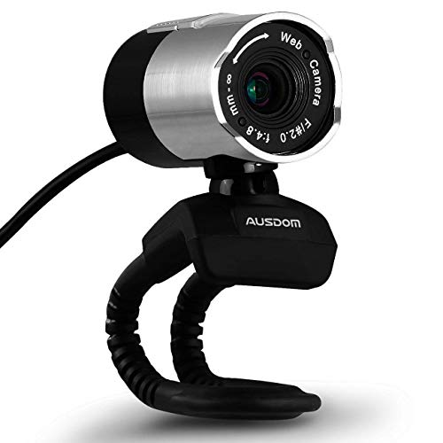 AUSDOM Webcam AW335 1080P Full HD Facecam USB Kamera für Windows 7/8 / xp2 / Vista Laptops mit eingebautem Mikrofon ideal für Vlog auf Facetime, YouTube, Facebook