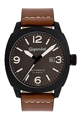 Gigandet G9-005 - Reloj para hombres, correa de cuero color marrón de Gigandet