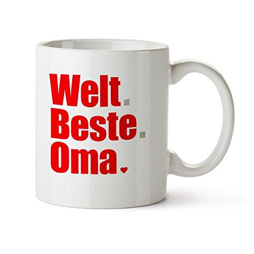 Tasse mit Aufdruck – Welt.Beste.Oma - Standard – Bedruckte Kaffeetasse in weiß als Oma Geschenk...