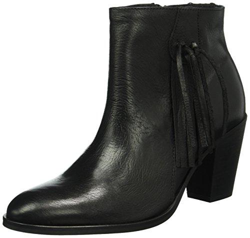 PIECES Psdiva Leather Boot, Stivaletti Donna, Nero (Black), 39 EU