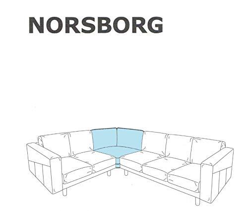 IKEA NORSBORG Bezug Eckelement 603.041.31 Edum hellblau Ersatzbezug