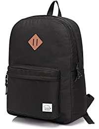 VASCHY Lightweight School Bag, 20 Liters Water Resistant Backpack for Travel Sports Hiking, School Backpack with Two Bottle Pockets
