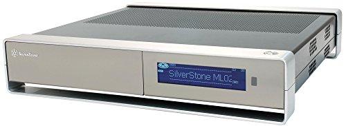 SilverStone SST-ML02B-MXR - Milo Micro-ATX Schmales HTPC Gehäuse mit LCD, schwarz