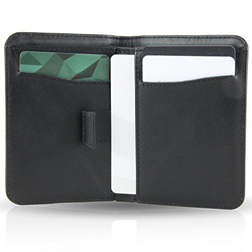 BULLAZO Fino Urban, kleines Herren Slim Wallet mit RFID Schutz, Leder, Schwarz