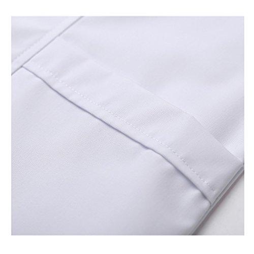 Kurzarm lange abschnitt weiß kittel ärzte krankenschwestern bekleidung arbeitskleidung arbeit (damen, M) - 7