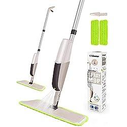 CXhome Serpillière pour Nettoyage du Sol en Spray avec 2 lavages lavables et 1 réservoir en Spray pour la Cuisine Gris/Vert