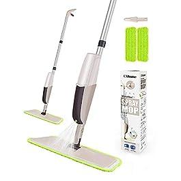 CXhome Lavapavimenti Per Pulizia dei Pavimenti, Spray Mop con 2waschbaren Bodenwischer ersatzbezug e 1serbatoio, Spray MOPP per Home cucina