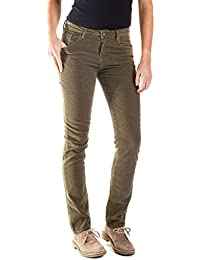 4105d9d6807d1 Carrera Jeans - Pantalon 752 pour Femme, Style Droit, Couleur Unie, Velours,