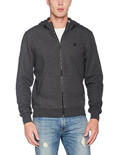 G-STAR RAW Herren Core Hooded Zip Sw L/S Kapuzenpullover, Schwarz (Black Htr 390), Large Core Zip-hoody