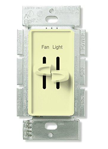 Lutron s2-lfsq-al Skylark Licht und Kontrolle des Lüfter, S2-LFSQ-AL 300 W, 120 - Dimmer Slide Licht